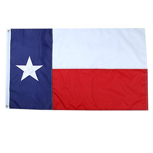 Yafeco Texas State Sewn Boat Flag, 12 x 18 inch Yacht Boat Ensign Nautical US American Flag Fully with Sewn Stripes, Embroidered Stars and Brass Grommets