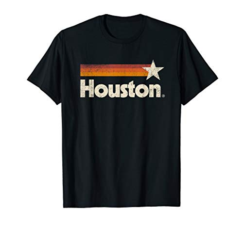 Houston Texas Shirt Houston Strong T-Shirt Vintage Stripes T-Shirt