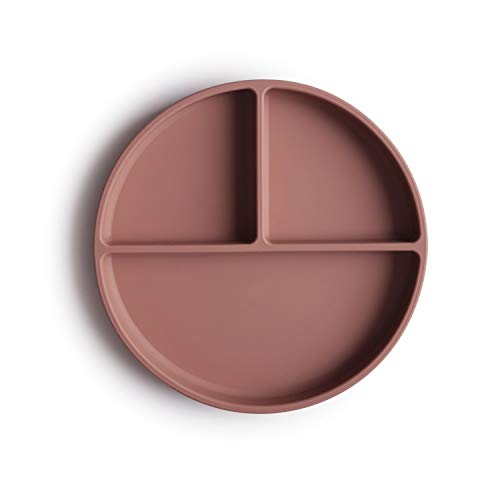 mushie Silicone Suction Plate | BPA-Free Non-Slip Design (Cloudy Mauve)