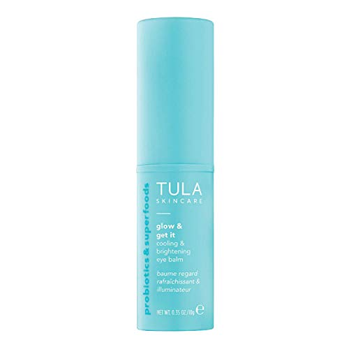 TULA Skin Care Glow & Get It Cooling & Brightening Eye Balm | Dark Circle Under Eye Treatment, Instantly Hydrate and Brighten Undereye Area, Portable and Perfect to Use On-the-go | 0.35 oz.