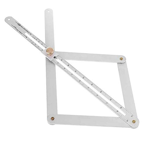 Aluminum Alloy Bevel Corner Protractor - Multi Angle Measurement Template Tool Gauge - Mitre Corner Angle Finder -Miter Angle Layout Measuring Ruler - Woodworking Goniometer Square Ruler Accessories