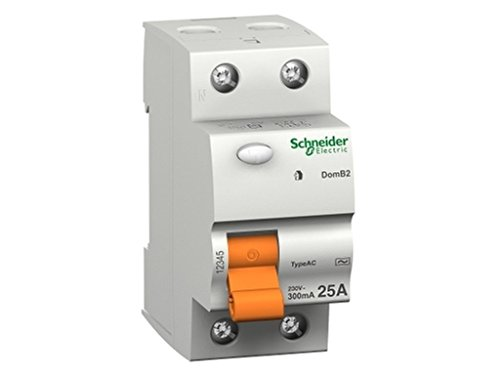 Schneider Electric 15245 Interruptor Diferencial Id Domae, 2P 40A, 30 Ma Ac
