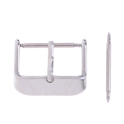 Milageto Watch Strap Buckle Replacement Stainless Steel Bracelet 12-26 Mm Brooch - 18mm