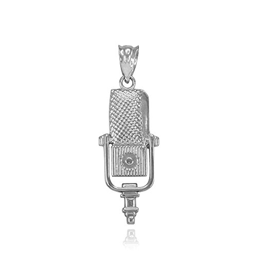 Recording Microphone Music Studio Pendant 925 Sterling Silver. Buy it now for 19.99