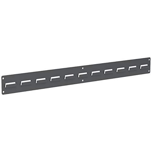 Akro-Mils 30632GY Louvered Single Row Steel Wall Panel Garage Organizer for Mounting AkroBin Storage Bins, (32-Inch W x 3-Inch H), Grey, (2-Pack)