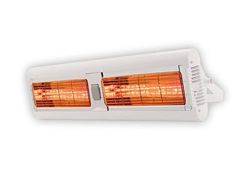 Tansun Quarzheizstrahler Sorrento 2x 1,5 kW weiß 3000 W 230 V/50 Hz Weiß IP24 5,6 kg