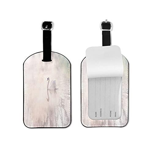 Tvuirw, targhetta per bagagli in pelle sintetica in microfibra PU, unisex, universale da viaggio