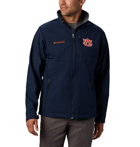 Columbia para hombre, NCAA, Collegiate Ascender Chaqueta Softshell, Hombre, color AUB - Marina Colegiada, tamaño xx-large