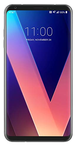 LG V30 Silver for Verizon 64gb - LTE - 6in QHD Plus FullVision Display, LTE, GSM (Renewed)