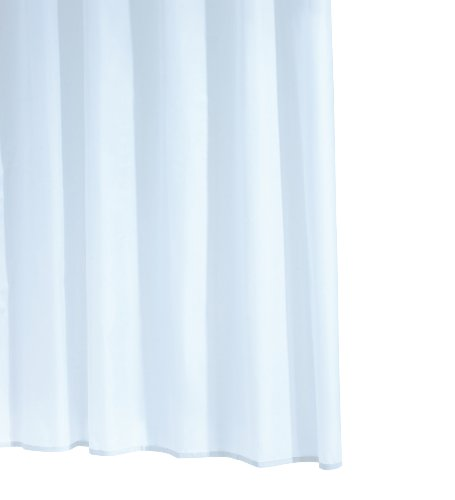 RIDDER 31411S-350 Duschvorhang Folie ca. 240 x 180 cm, Standard weiß inklusive Ringe