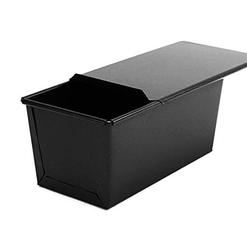 Caja de Tostadas con Tapa, Pastel Rectangular Molde de Tostada de Pan, Caja de Tostadas Antiadherente, para sándwiches Patties Pastel, Recubrimiento de Seguridad, Fuerte Robusto