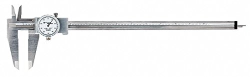"0-12"" Range Stainless Steel Inch Dial Caliper with 0.001"" Graduations"