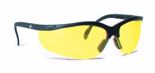 Walker's Gafas de disparo unisex, color amarillo, lentes de policarbonato, protección UV, antideslizante, izquierda/derecha, talla única