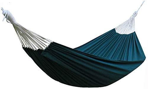 MCE Hamaca de viaje para camping, cama individual con columpio, regalo ideal para padres para patio trasero, playa al aire libre (color verde, tamaño: 200 x 140 cm)