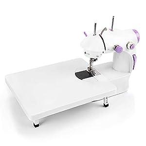 HALOVIE Mini Máquina de Coser Portatil y Versátil con Gran Mesa de Costura Pedal Eléctrico Fácil de Usar y Práctica Electrodomésticos para Principiantes Niños DIY Hogar