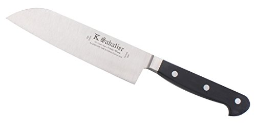K SABATIER - Cuisine Orientale 17 Cm Gamme Proxus - Acier Inoxydable - Manche Noir - 100% Forge - Entièrement Fabrique en France