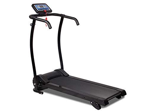 MAXOfit Fitness Laufband klappbar MF-17 für Zuhause, platzsparend faltbar, GEH- und Lauftraining, leiser Elektromotor 1-10 km/h, mit 12 Programmen und LCD-Display