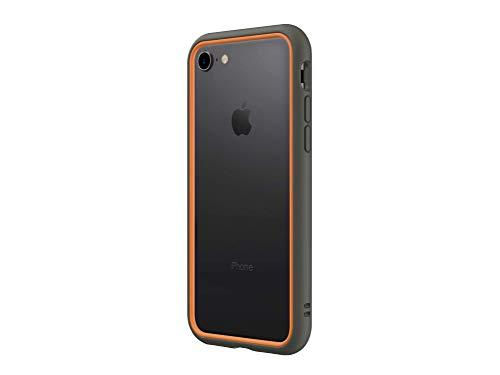 RhinoShield Funda Bumper Compatible con [iPhone SE2 / SE (2020) / 8/7] | CrashGuard NX - Carcasa con Tecnología de Absorción de Golpes - Resistente a Impactos de más de 3.5 Metros - Grafito/Naranja