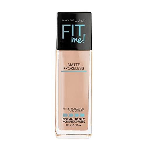 Maybelline Fit Me Matte + Poreless Liquid Foundation Makeup, Buff Beige, 1 fl. oz. Oil-Free...