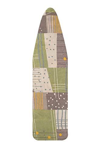 NOVUM SELECTION - Funda universal para tabla de planchar de 140 x 50 cm. Paño suave para la cubierta, funda profesional compatible con plancha de vapor. Funda de repasage. Fabricado en Italia.