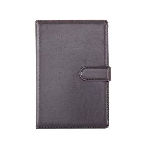 XXT Cuaderno de notas de estudio simple grueso y exquisito cuaderno de oficina (color: gris, tamaño: 19,2 x 26,8 cm)