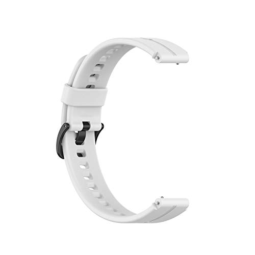Sweo Correa de reloj de pulsera, correa de silicona universal de 16 mm para reloj Huawei TalkBand B3 B6 TIMEX