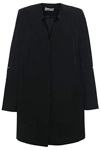 Sheego Blazer Longblazer Gehrock Jacke Damen Plusgröße Übergröße, Farbe:schwarz, Damengrößen:52