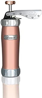 Marcato 01 08 Atlas Deluxe Biscuit Maker Cookie Press, Made in Italy, 20 Disc Shapes, Pink