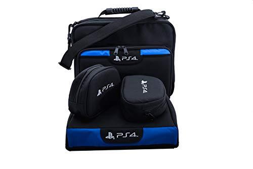 Bolsa Pasta PS4 FAT + Cases + Capa Console - KIT 4 Peças
