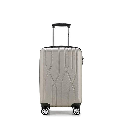 XKstyle Diplomats Suitcase Trolley Suitcase Caster Trolley Case Boarding ABS Business Trolley Luggage Suitcase Password (size: 20, 24 Inch) (Size : 24inch)