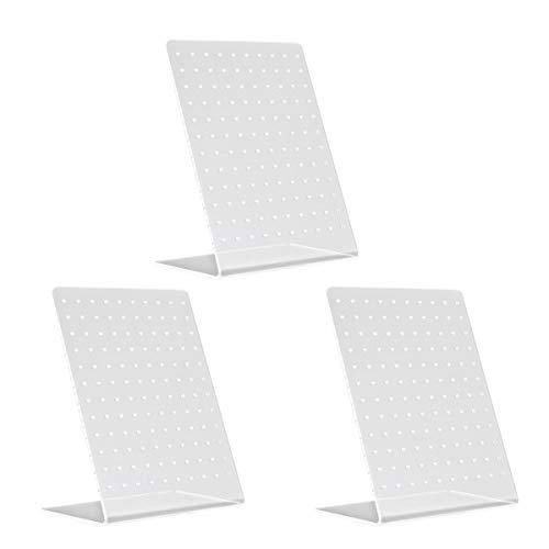 tout neuf toujours populaire nouveau sélection Greatangle 3PCS L Shape 120 Holes Clear Plexiglass Earrings Display Stand  Holder Showcase Rack Ear Studs Organizer Jewelry Show Case