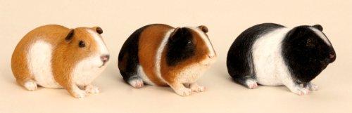 Geschenkestadl 3 er Set Meerschweinchen Figuren für Haus und Garten Nagetiere Kleintiere