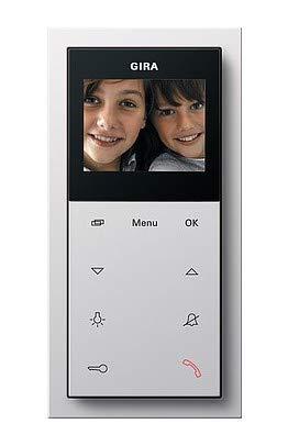 Gira Wohnungsstation Video AP 1239112 Plus reinweiß Flächenschalter Innenstation für Türkommunikation 4010337016304