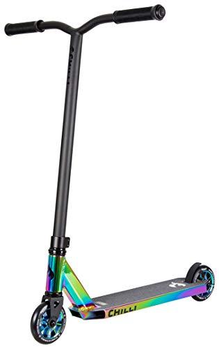 Chilli Rocky Scooter Grind - 360 - neochrome| Erstklassiger Stunt-Scooter | Robuster Roller, drehbarer Lenker ideal für Tricks geeignet (Special neochrome inklusive Schloss)