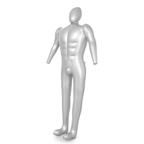 Newsmarts Male Inflatable Full Body Mannequin, Shirt & Pant Display Dummy Torso Model