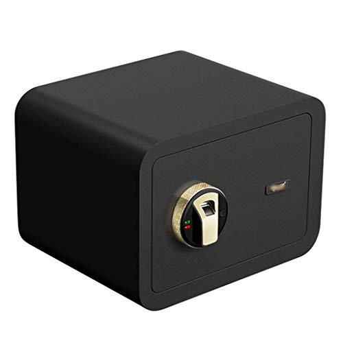 Cajas fuertes para el hogar Sistema de alarma inteligente Efectivo Gabinete de joyería Desbloqueo de huellas dactilares Caja de seguridad de archivos de oficina (Color: Blanco, Tamaño: 35 * 25 * 25 cm