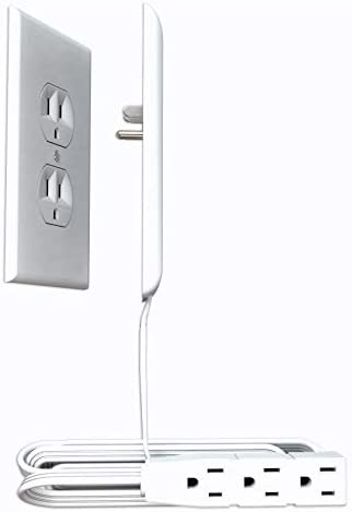 Sleek Socket Ultra Thin Electrical Outlet Cover with 3 Outlet Power Strip and Cord Management product image