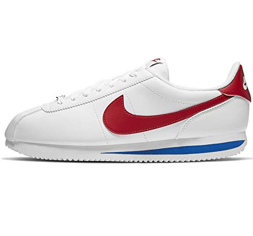 Nike Cortez Basic Leather, Chaussures de Running Homme, Blanc (White/Varsity Red/Varsity Royal 103), 44 EU