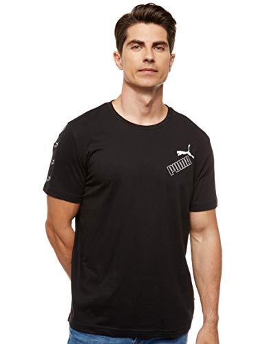 PUMA Herren Amplified Tee T-Shirt, Black, XL