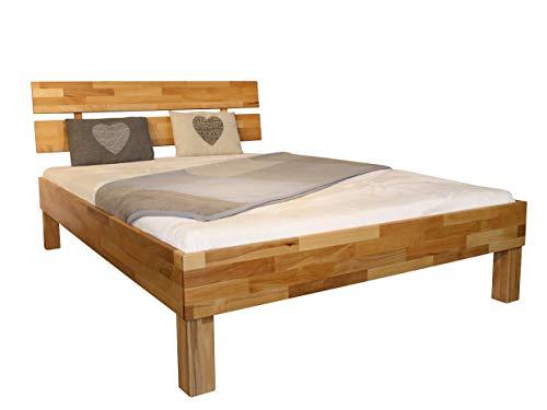 MeinMassivholz Massivholzbett/Holzbett Buche Typ Palma Komfort Einzelbett 140x200 cm (Buche, 140x200 Komforthöhe)