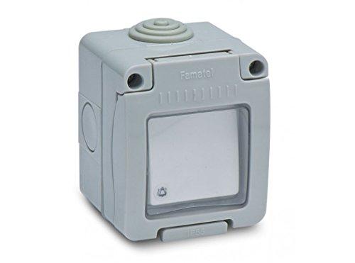 FAMATEL 19038 - Pulsador timbre estanco 10A-250V