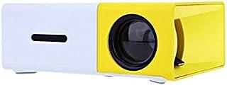 جهاز عرض YG300 صغير محمول من واي جي، 400 - 600 لومن، جهاز عرض فيديو بتقنية ال سي دي يدعم توصيل HDMI/يو اس بي/AV/CVBS مع جه...