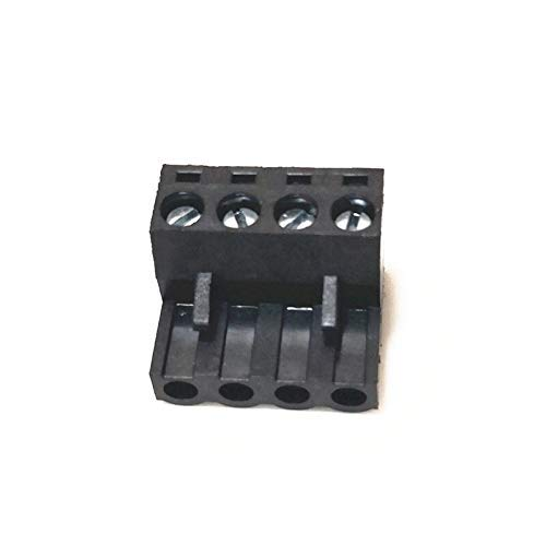 2pin/4pin Black Terminal Block mk2s/mk3 hotend Cartridge for Mini-Rambo Einsy Rambo 3D Printer Parts 3D Printing Accessories (Color : 4PIN, Size : 5pcs) (Color : 4PIN, Size : 5pcs)