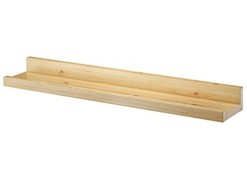 Erst-Holz® Wandregal Massivholz Kiefer Fotoleiste für Bilder Bücher und Deko 90.82-13
