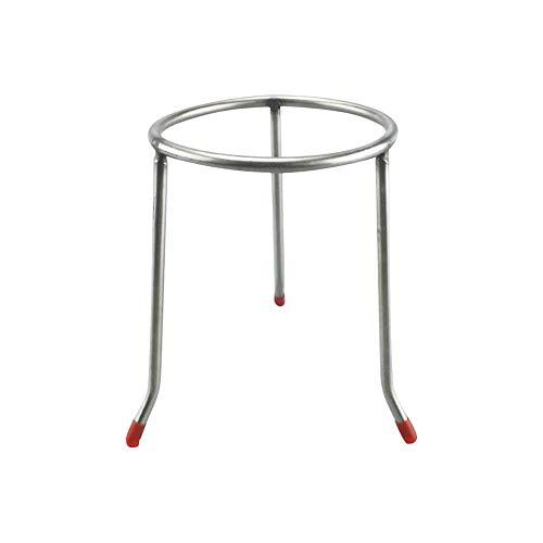 Tansoole Labor-Stativ, Edelstahl Becherglas Halter, Stativ für Physik und Chemie, ∅120×200mm, 5 Stücke