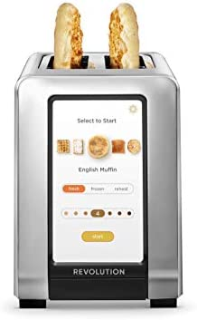 Revolution Cooking R180 High Speed 2 Slice Stainless Touchscreen Toaster Exclusive InstaGLO product image