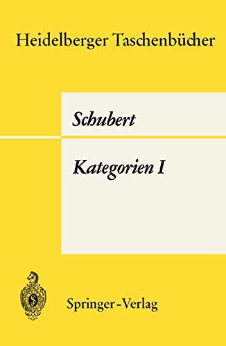 Heidelberger Taschenbücher, Band 65: Kategorien I