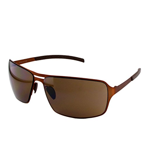 ActiveSol HYPERION Sonnenbrille Herren | anthrazit/braun/schwarz | verspiegelt/un-verspiegelt | UV-400 Schutz | Metall-Gestell (brown with brown lenses)