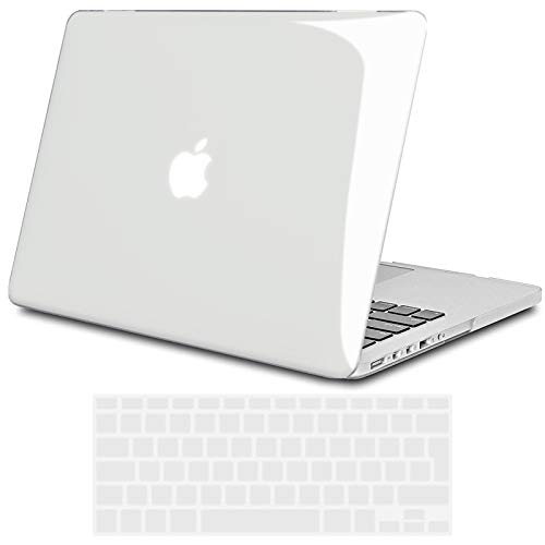TECOOL Funda para MacBook Pro 13 Pulgadas Retina Display 2013-2015 (Modelo: A1502/ A1425), Plástico Dura Case Carcasa con Tapa del Teclado para MacBook Pro 13.3 Pulgada - Transparente