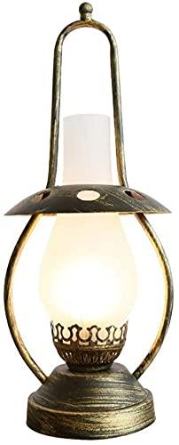 TAIDENG Lámparas de mesa para salón E27 Luces vintage nostálgicas, sala de estar creativa Oficina de mesa Decoración de mesa Luz de escritorio Luz de escritorio 46 cm Campo Retro Industrial Lámpara de